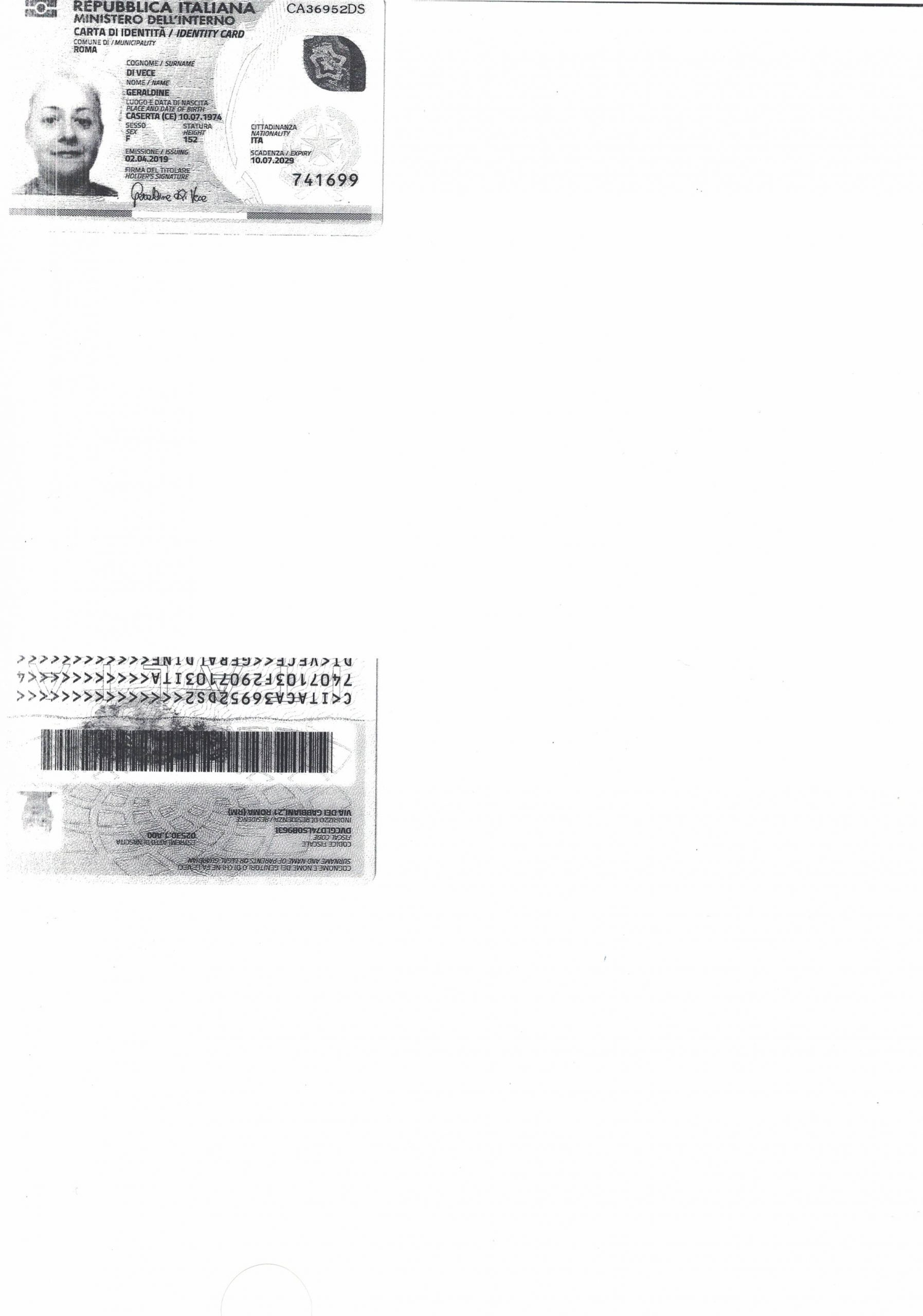 Documento identità f_r Geraldine